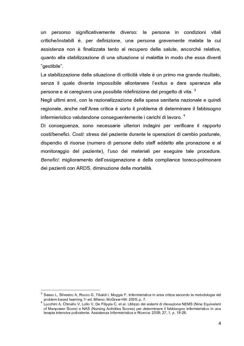Anteprima della tesi: Problematiche di nursing nel paziente critico ventilato artificialmente in posizione prona, Pagina 7