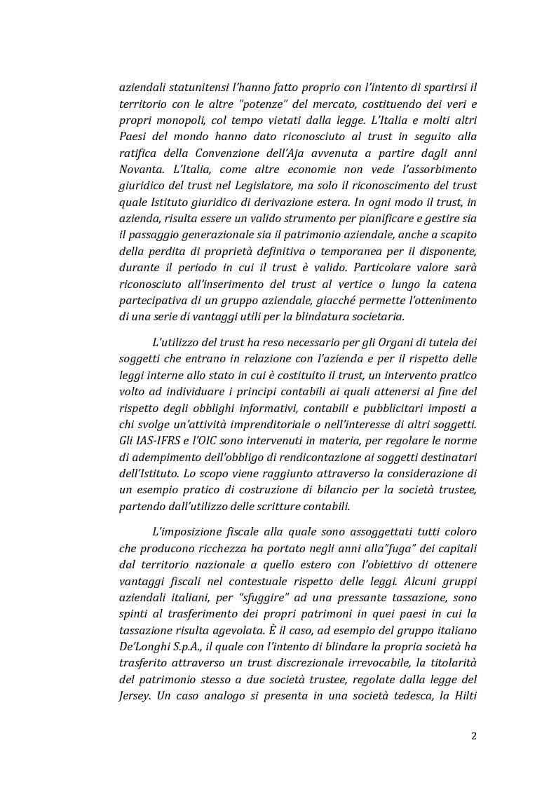 Anteprima della tesi: Il trust come strumento del passaggio generazionale nei gruppi aziendali, Pagina 3