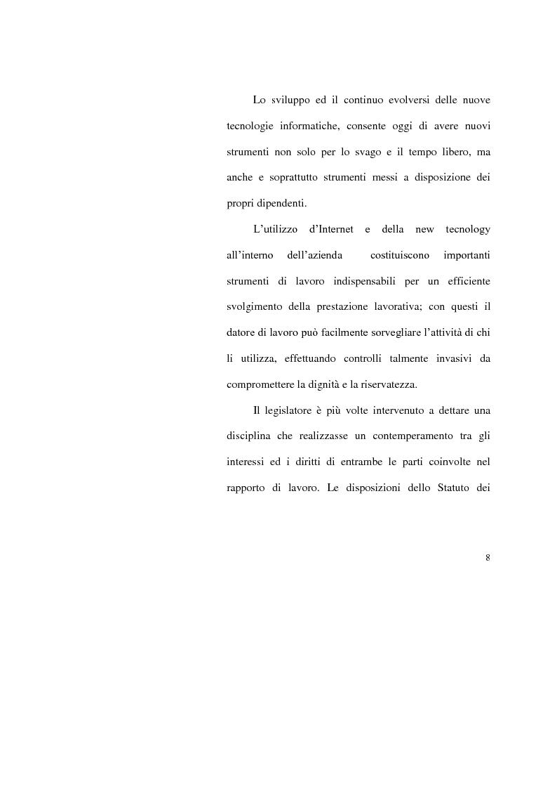 Anteprima della tesi: I limiti del potere di controllo del datore di lavoro, Pagina 3
