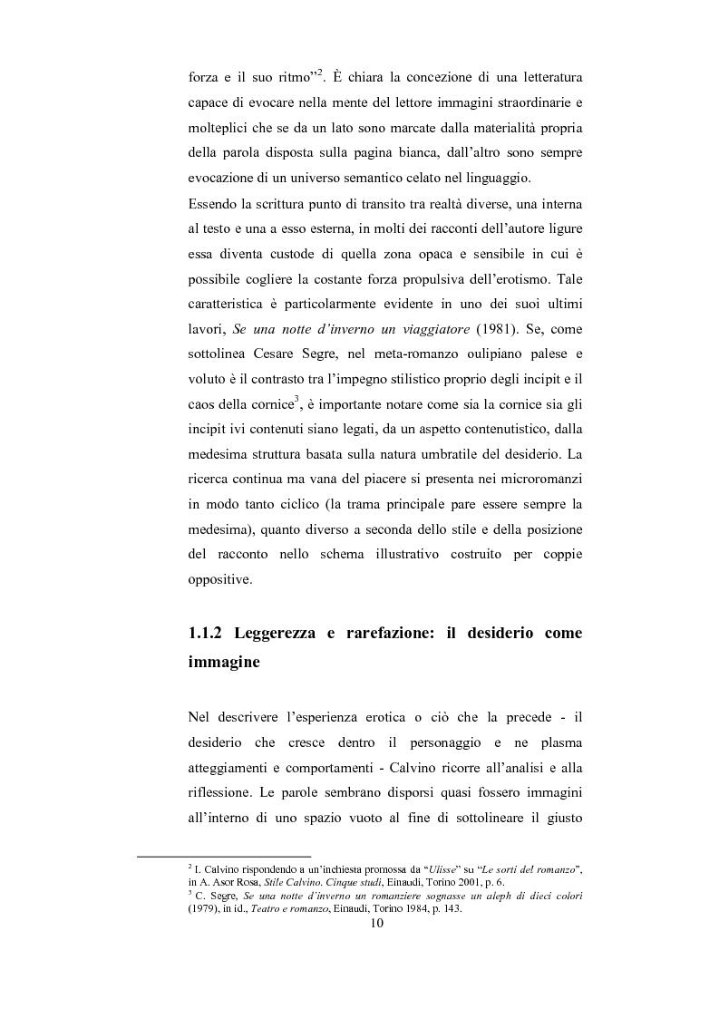 Anteprima della tesi: Scrittura (e lettura) del desiderio. Gli Incipit di ''Se una notte d'Inverno un Viaggiatore'' di Italo Calvino., Pagina 6