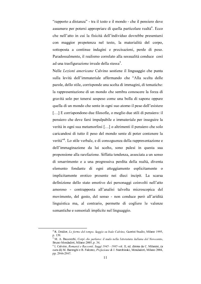 Anteprima della tesi: Scrittura (e lettura) del desiderio. Gli Incipit di ''Se una notte d'Inverno un Viaggiatore'' di Italo Calvino., Pagina 7