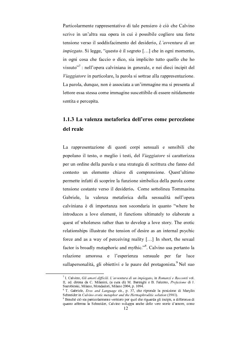 Anteprima della tesi: Scrittura (e lettura) del desiderio. Gli Incipit di ''Se una notte d'Inverno un Viaggiatore'' di Italo Calvino., Pagina 8