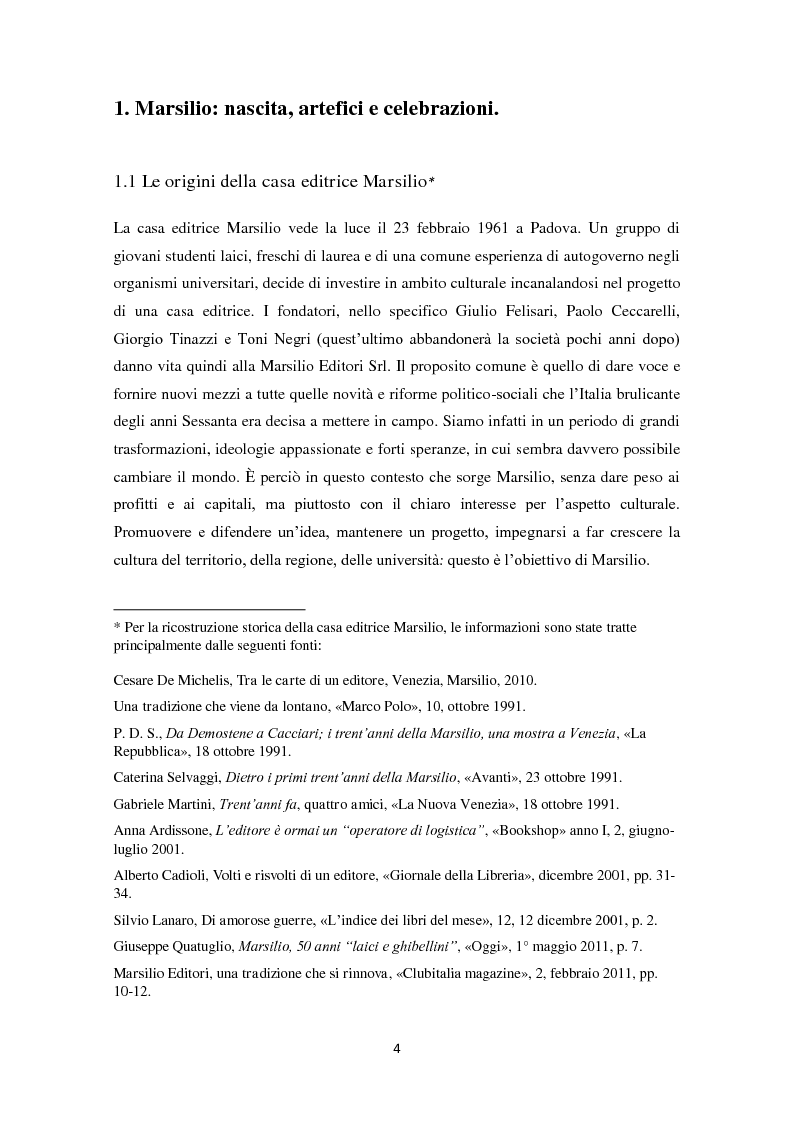 Anteprima della tesi: Marsilio: breve storia di una grande casa editrice, Pagina 3