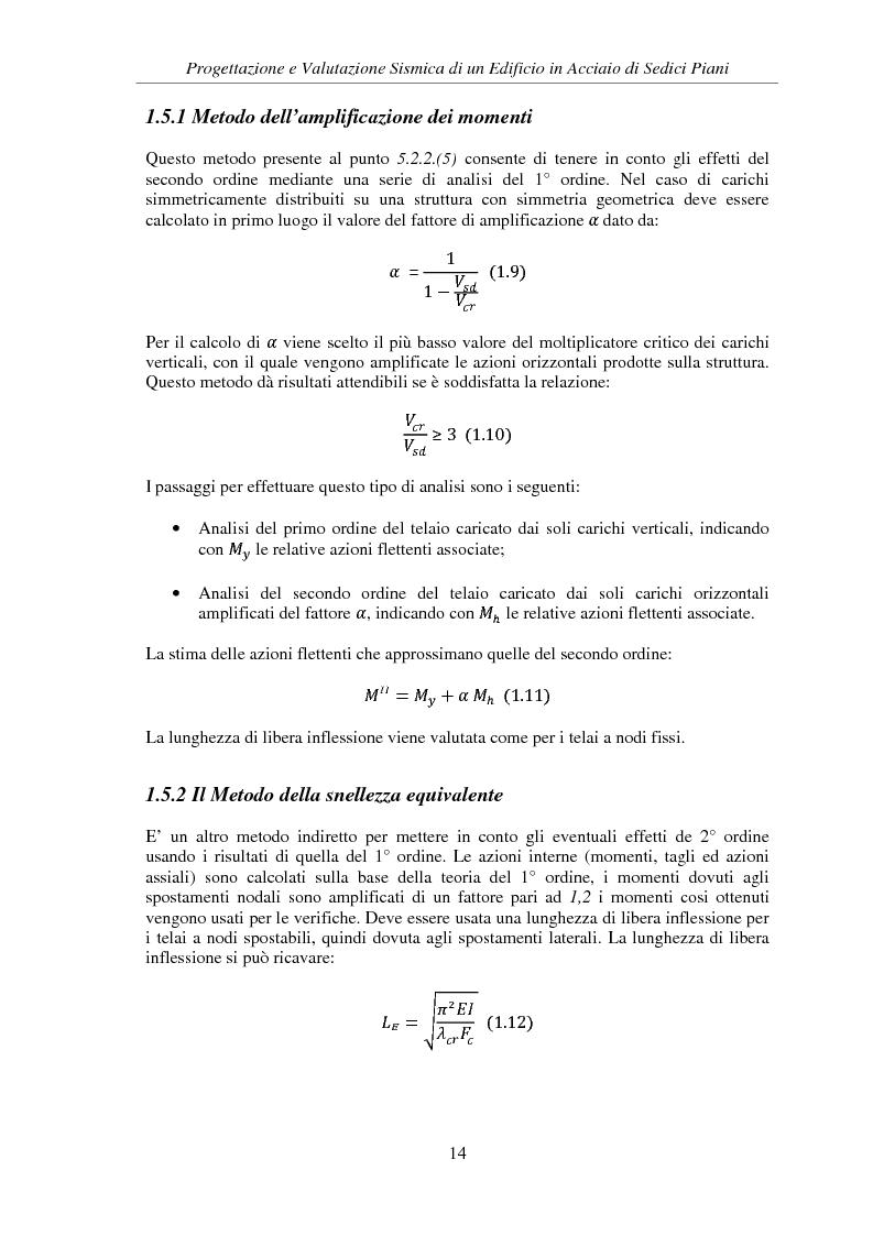 Anteprima della tesi: Progettazione e valutazione sismica di un edificio in acciaio di sedici piani, Pagina 12