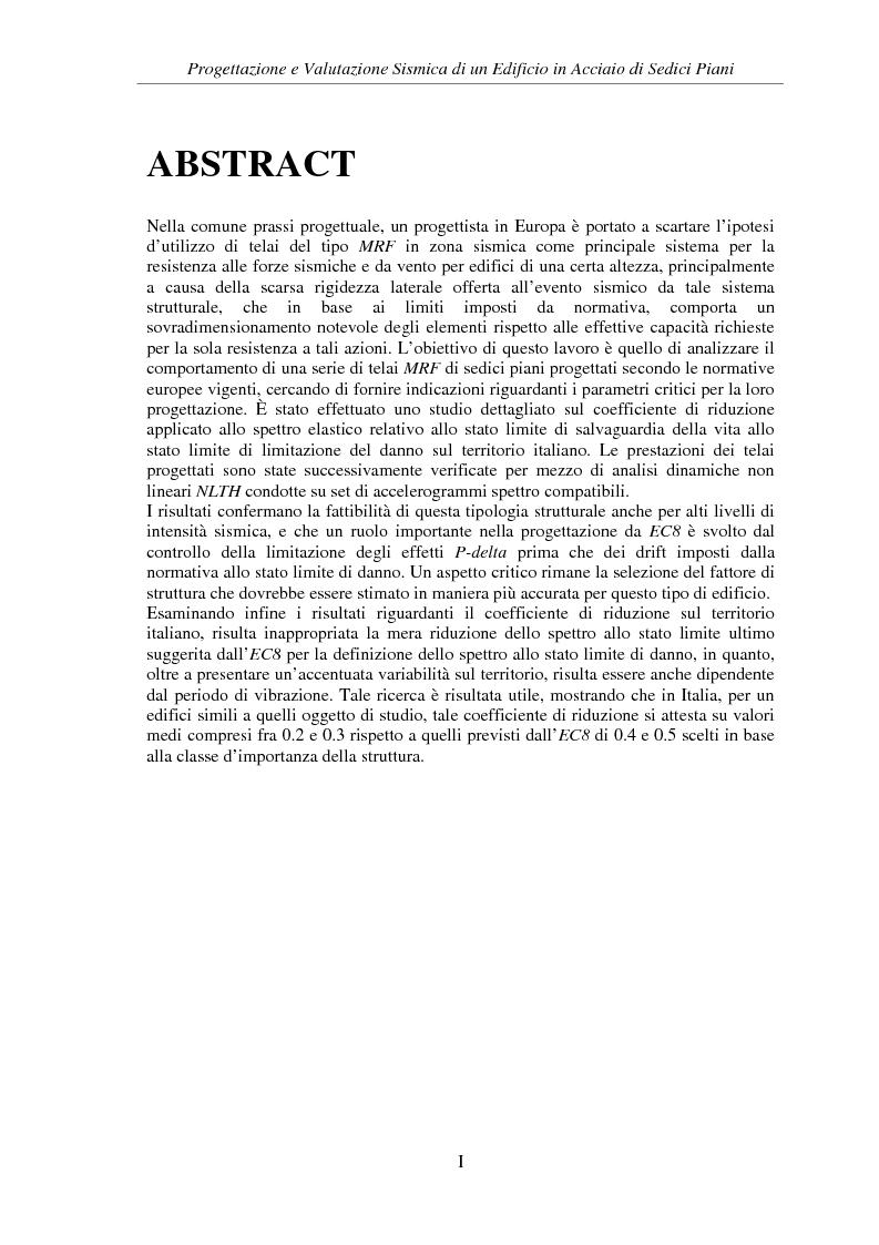 Anteprima della tesi: Progettazione e valutazione sismica di un edificio in acciaio di sedici piani, Pagina 2