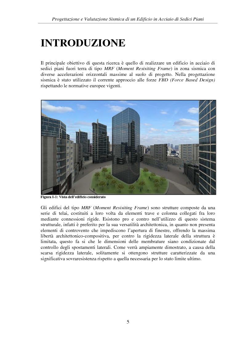 Anteprima della tesi: Progettazione e valutazione sismica di un edificio in acciaio di sedici piani, Pagina 3
