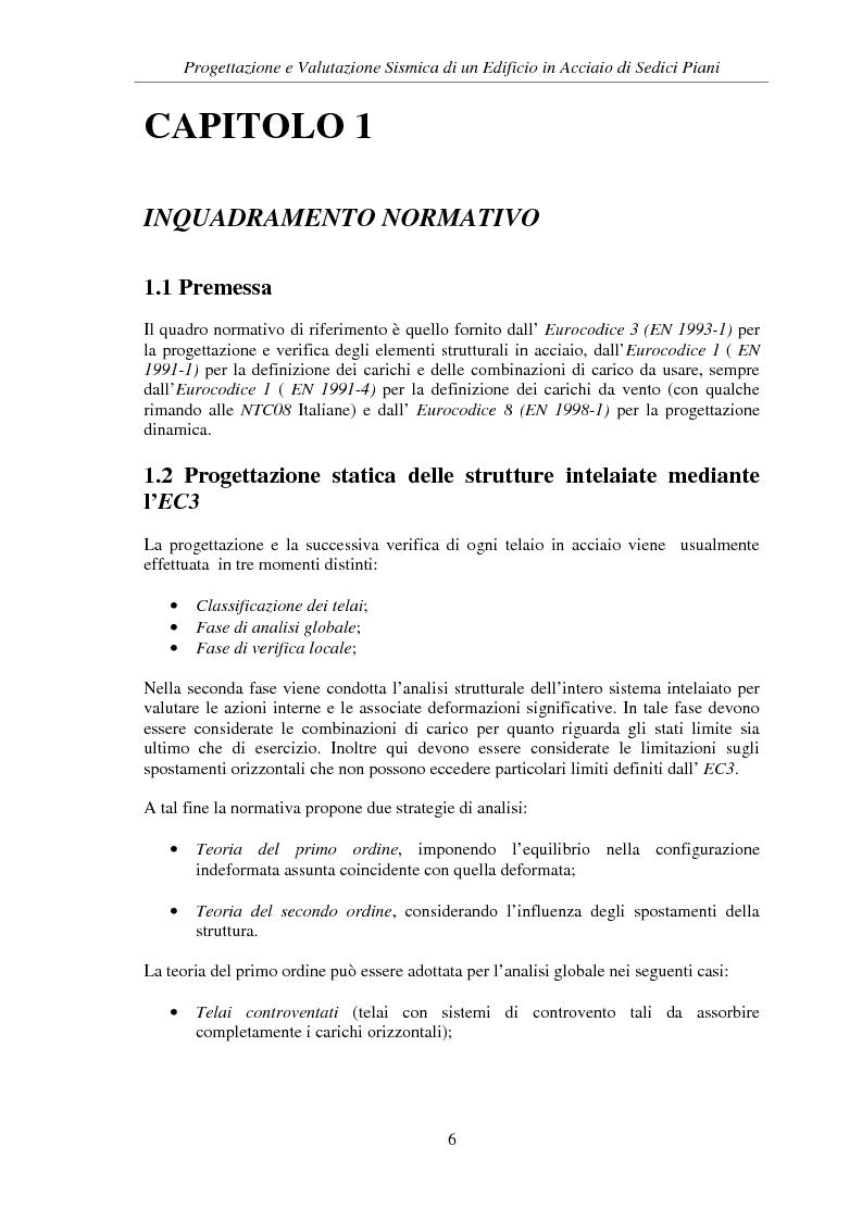 Anteprima della tesi: Progettazione e valutazione sismica di un edificio in acciaio di sedici piani, Pagina 4