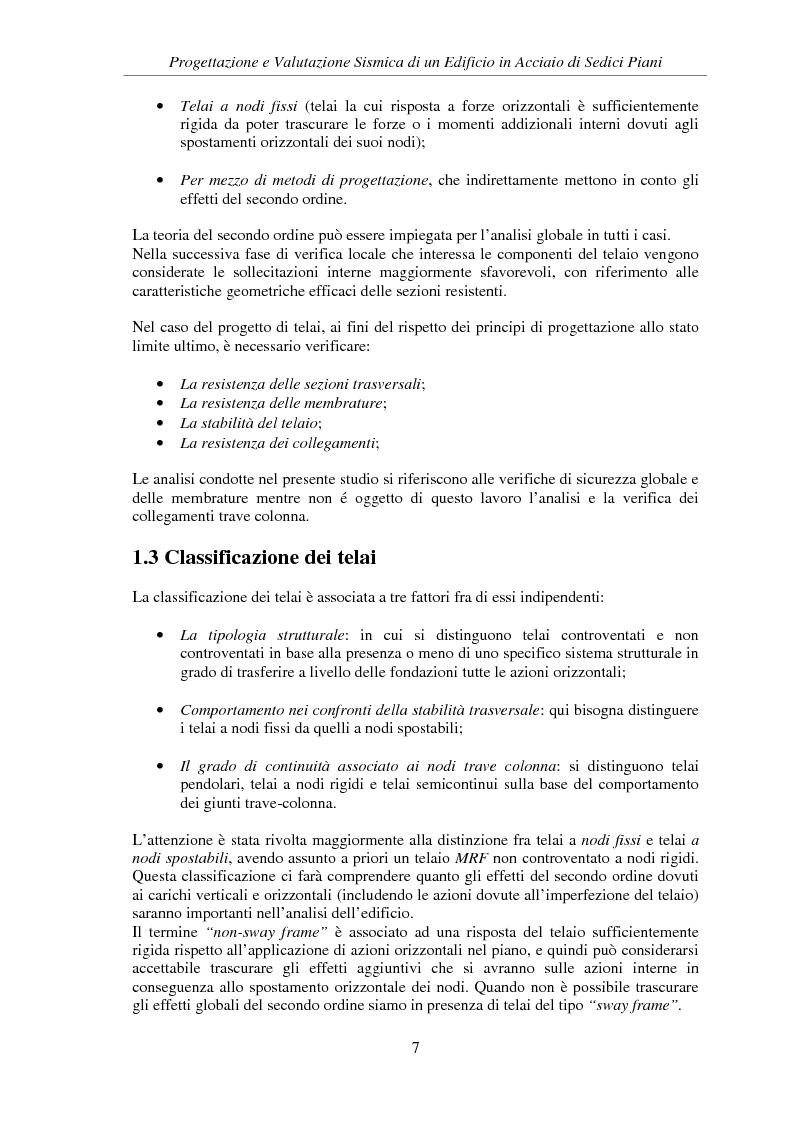 Anteprima della tesi: Progettazione e valutazione sismica di un edificio in acciaio di sedici piani, Pagina 5