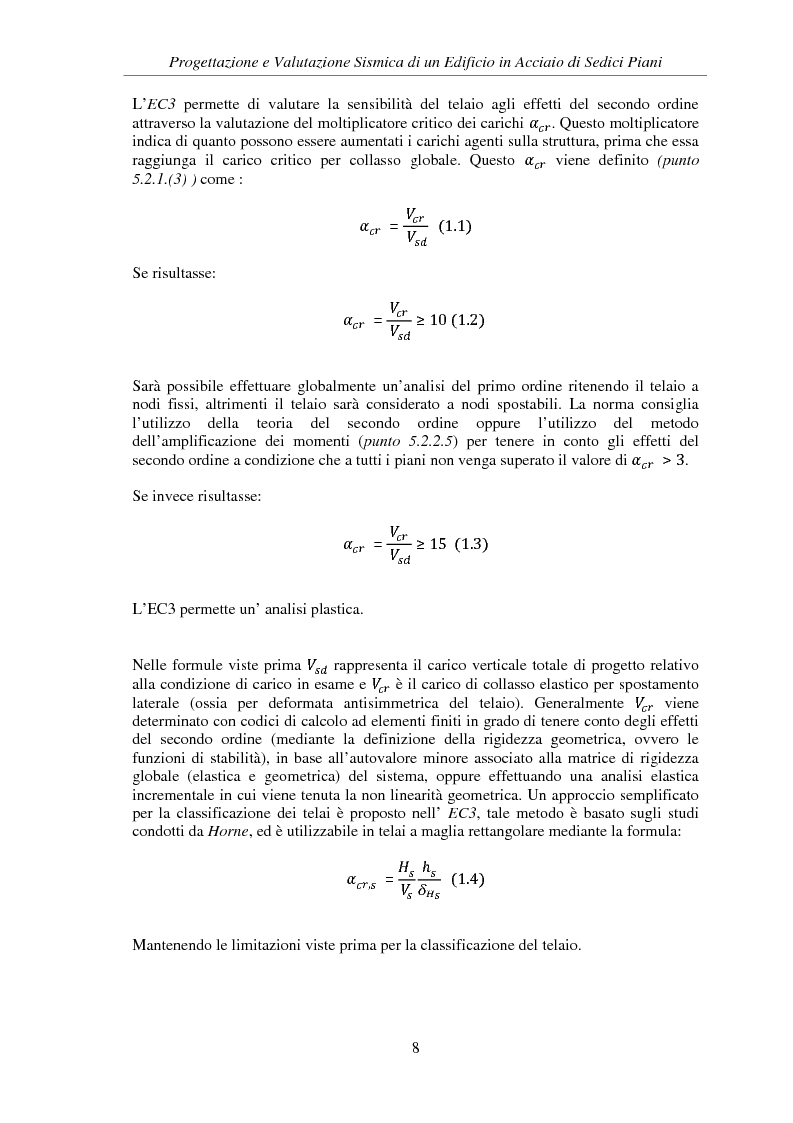 Anteprima della tesi: Progettazione e valutazione sismica di un edificio in acciaio di sedici piani, Pagina 6