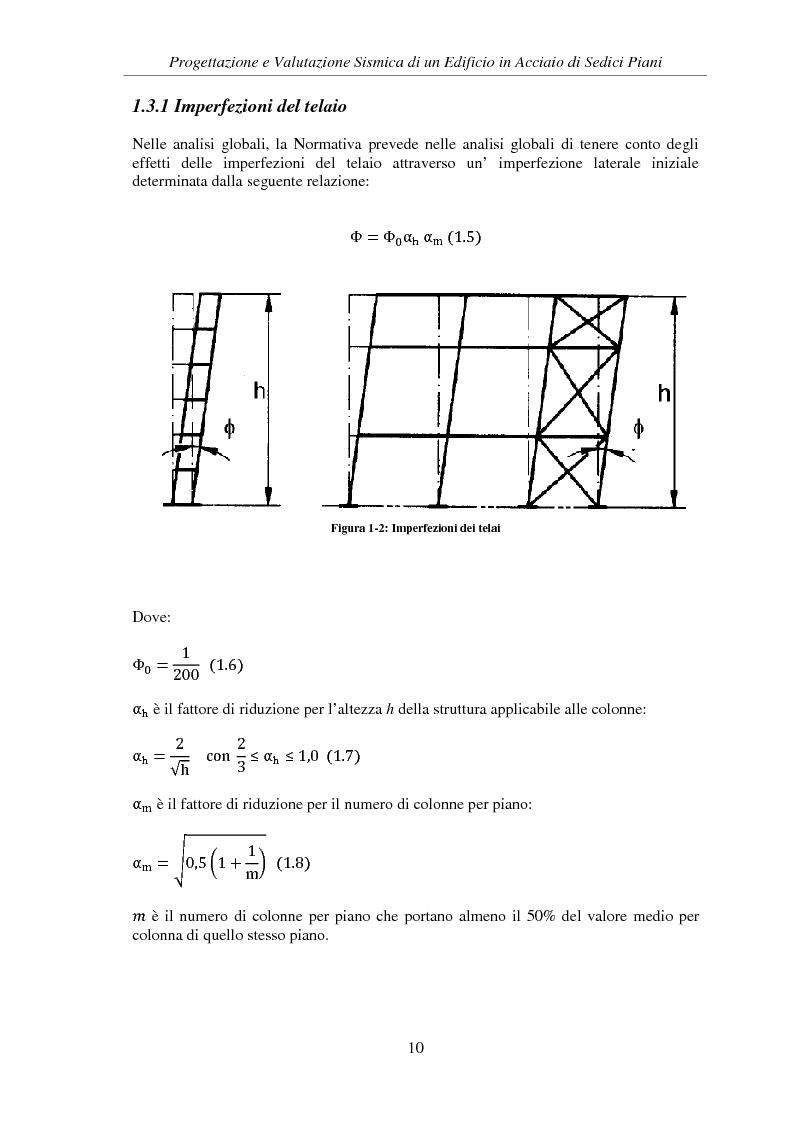Anteprima della tesi: Progettazione e valutazione sismica di un edificio in acciaio di sedici piani, Pagina 8