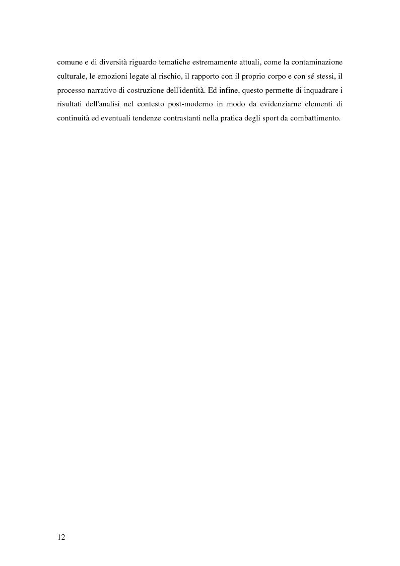 Anteprima della tesi: Gli sport da combattimento nella società contemporanea: ricerca di piacere e di significato, Pagina 10