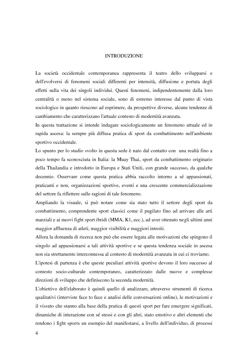 Anteprima della tesi: Gli sport da combattimento nella società contemporanea: ricerca di piacere e di significato, Pagina 2