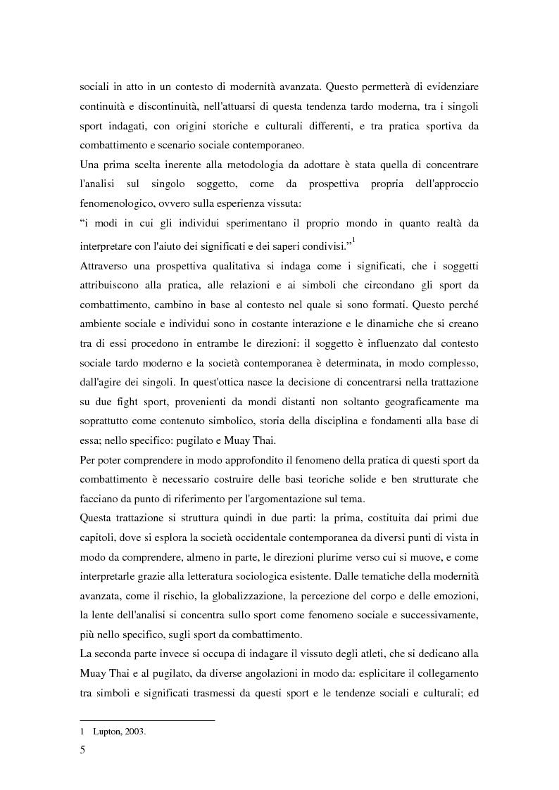 Anteprima della tesi: Gli sport da combattimento nella società contemporanea: ricerca di piacere e di significato, Pagina 3