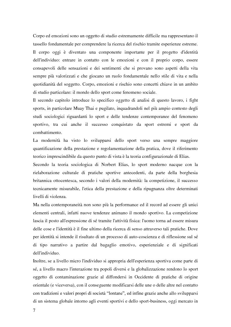 Anteprima della tesi: Gli sport da combattimento nella società contemporanea: ricerca di piacere e di significato, Pagina 5