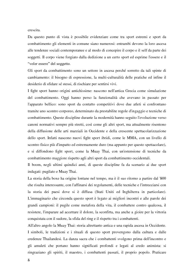 Anteprima della tesi: Gli sport da combattimento nella società contemporanea: ricerca di piacere e di significato, Pagina 6