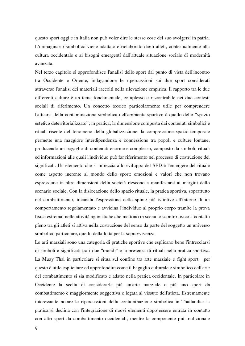 Anteprima della tesi: Gli sport da combattimento nella società contemporanea: ricerca di piacere e di significato, Pagina 7