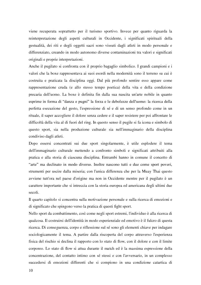 Anteprima della tesi: Gli sport da combattimento nella società contemporanea: ricerca di piacere e di significato, Pagina 8