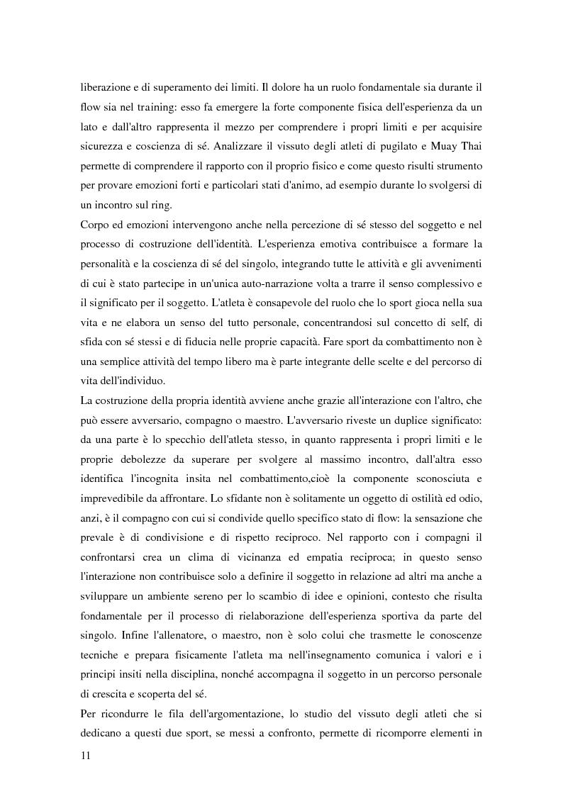 Anteprima della tesi: Gli sport da combattimento nella società contemporanea: ricerca di piacere e di significato, Pagina 9