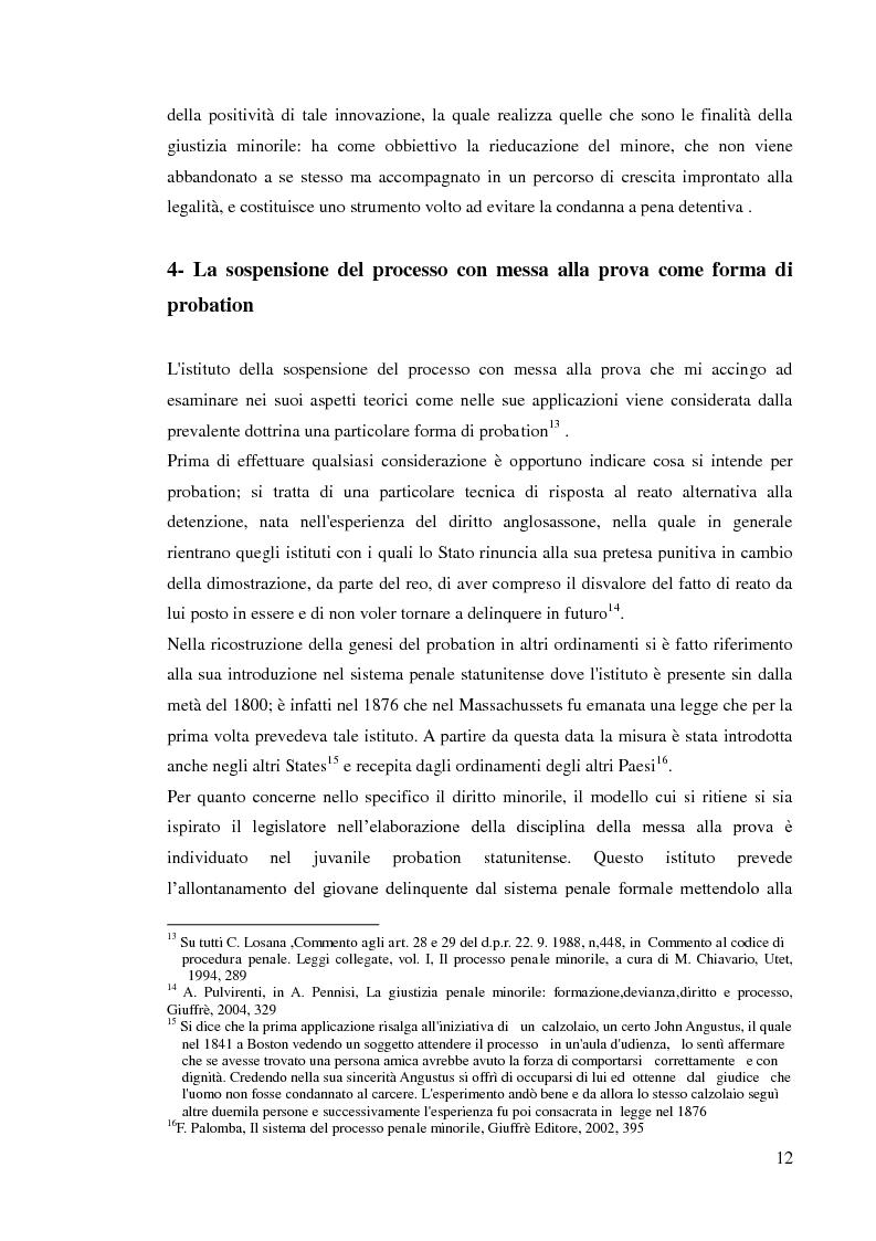 Anteprima della tesi: Sospensione del processo e messa alla prova, Pagina 10