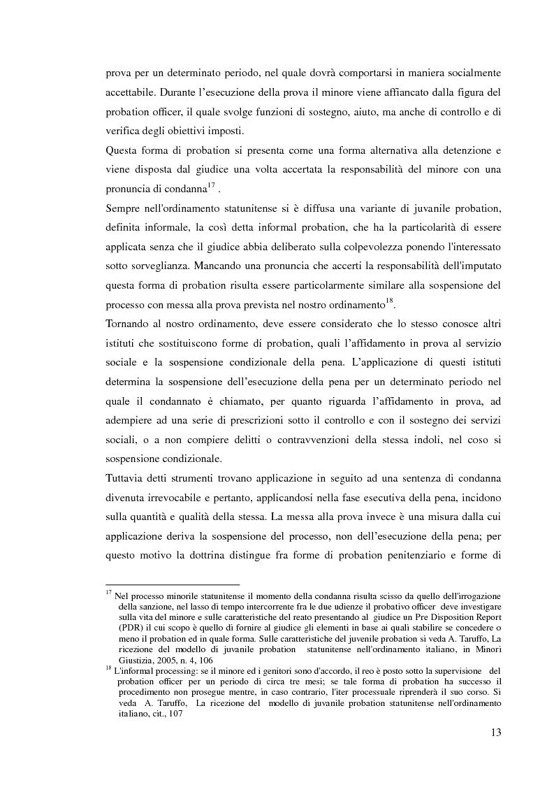 Anteprima della tesi: Sospensione del processo e messa alla prova, Pagina 11