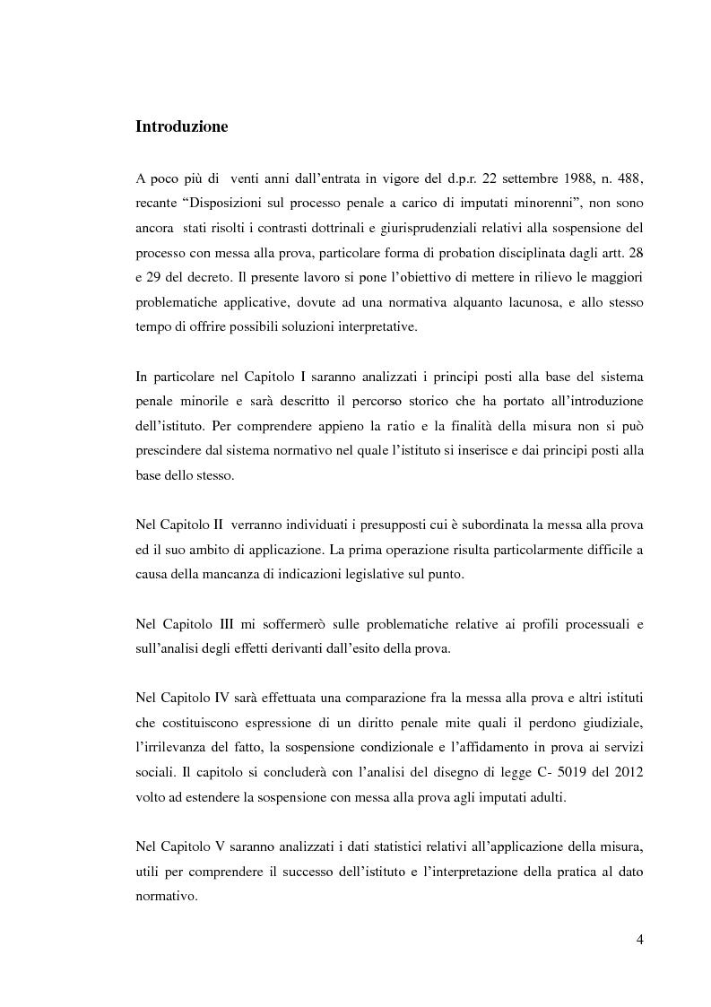 Anteprima della tesi: Sospensione del processo e messa alla prova, Pagina 2