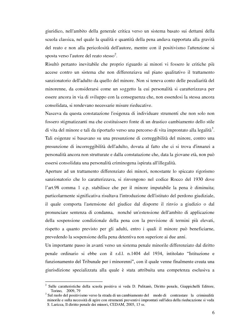 Anteprima della tesi: Sospensione del processo e messa alla prova, Pagina 4