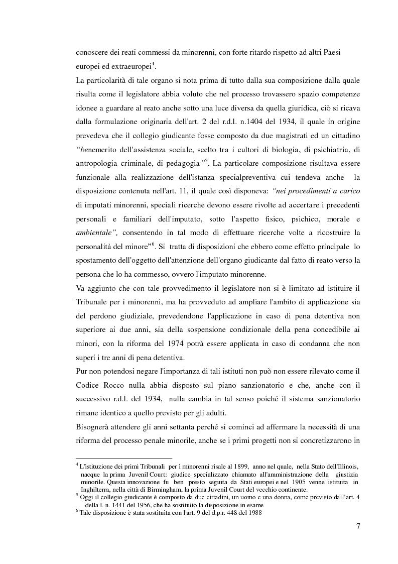 Anteprima della tesi: Sospensione del processo e messa alla prova, Pagina 5