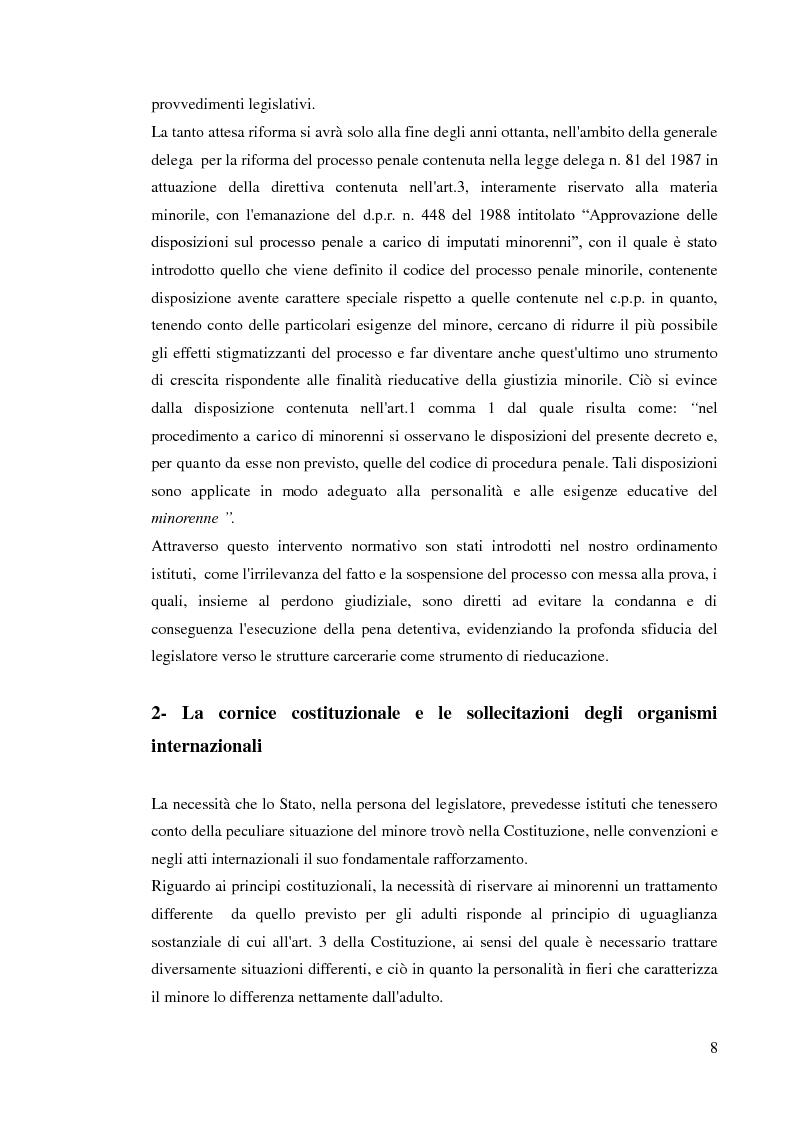 Anteprima della tesi: Sospensione del processo e messa alla prova, Pagina 6