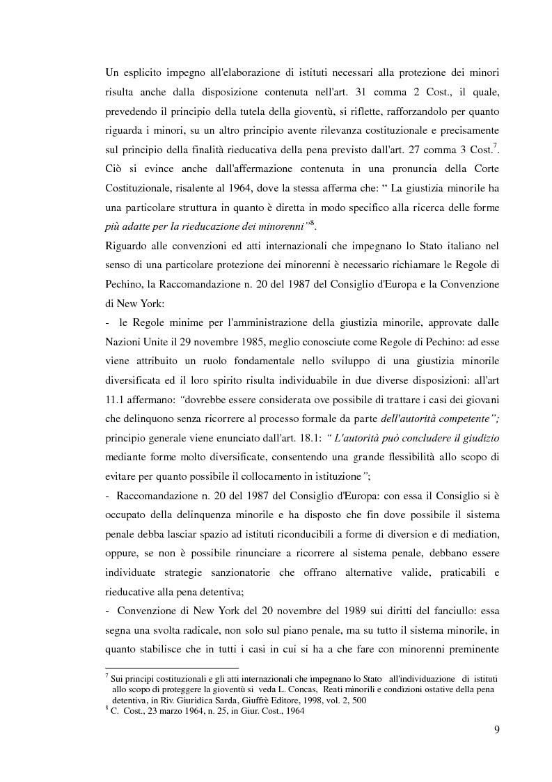 Anteprima della tesi: Sospensione del processo e messa alla prova, Pagina 7