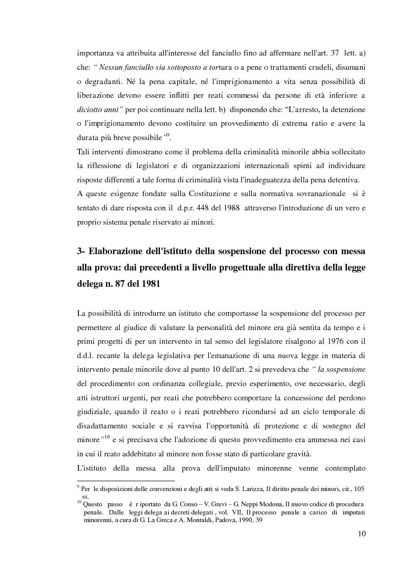 Anteprima della tesi: Sospensione del processo e messa alla prova, Pagina 8