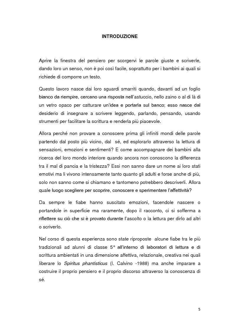Anteprima della tesi: Dalle fiabe alle emozioni...dalle emozioni alle parole, Pagina 2