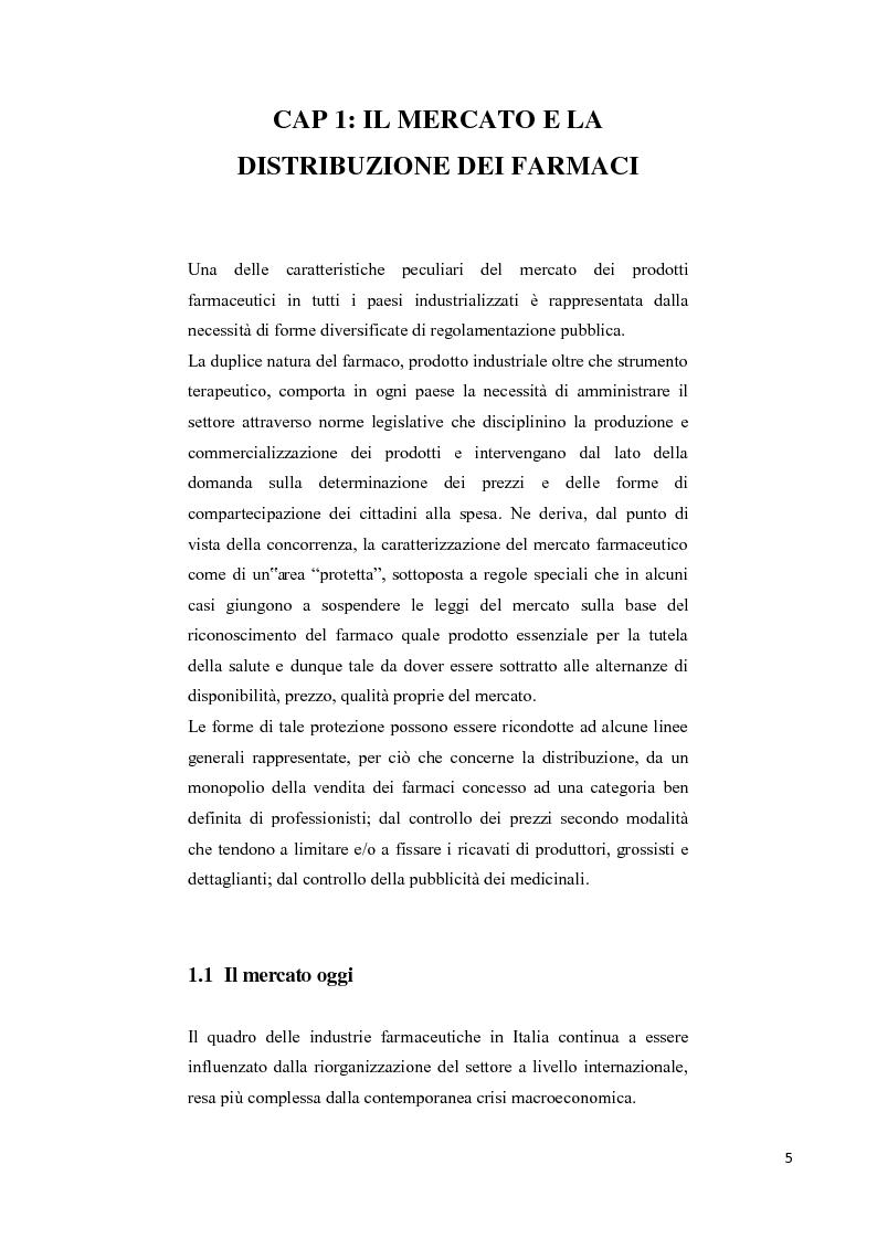 Anteprima della tesi: La soddisfazione del consumatore nel campo dei servizi commerciali. Analisi empirica sulla distribuzione farmaceutica., Pagina 2