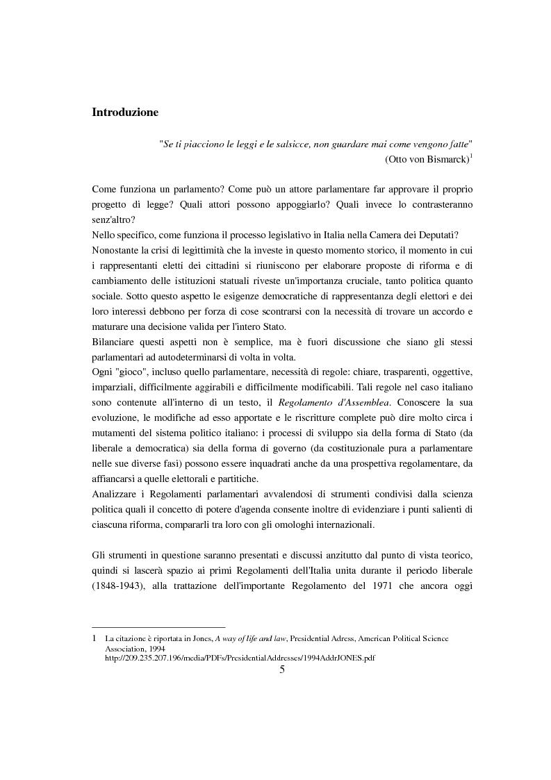 Anteprima della tesi: Evoluzione del Potere d'Agenda legislativo nella Camera dei Deputati, Pagina 2