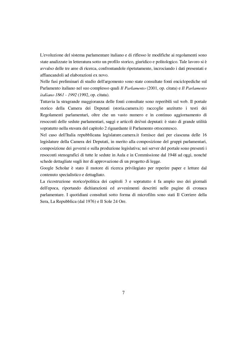 Anteprima della tesi: Evoluzione del Potere d'Agenda legislativo nella Camera dei Deputati, Pagina 4