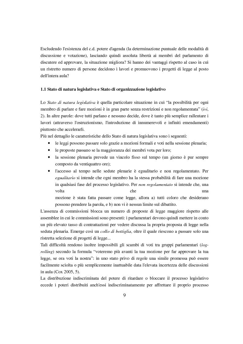 Anteprima della tesi: Evoluzione del Potere d'Agenda legislativo nella Camera dei Deputati, Pagina 6