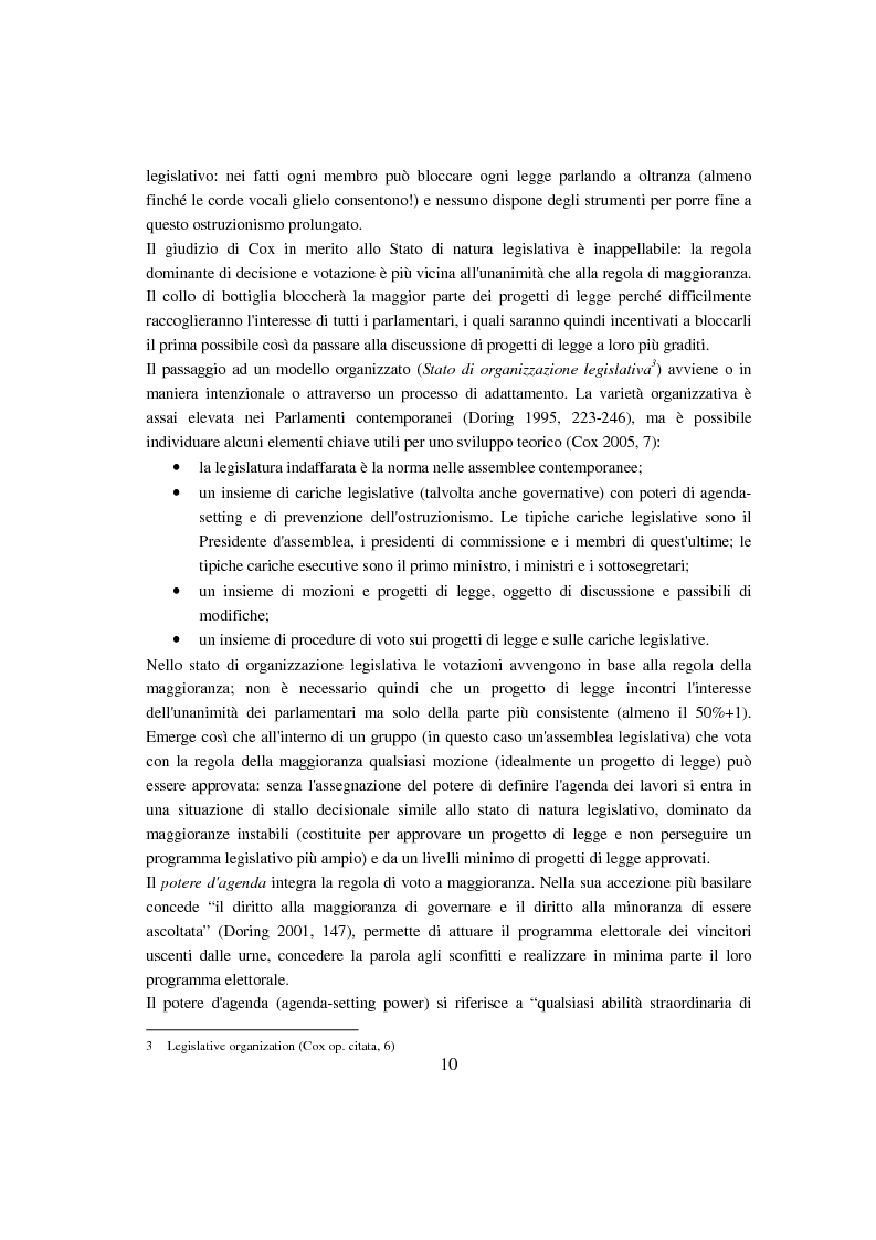 Anteprima della tesi: Evoluzione del Potere d'Agenda legislativo nella Camera dei Deputati, Pagina 7