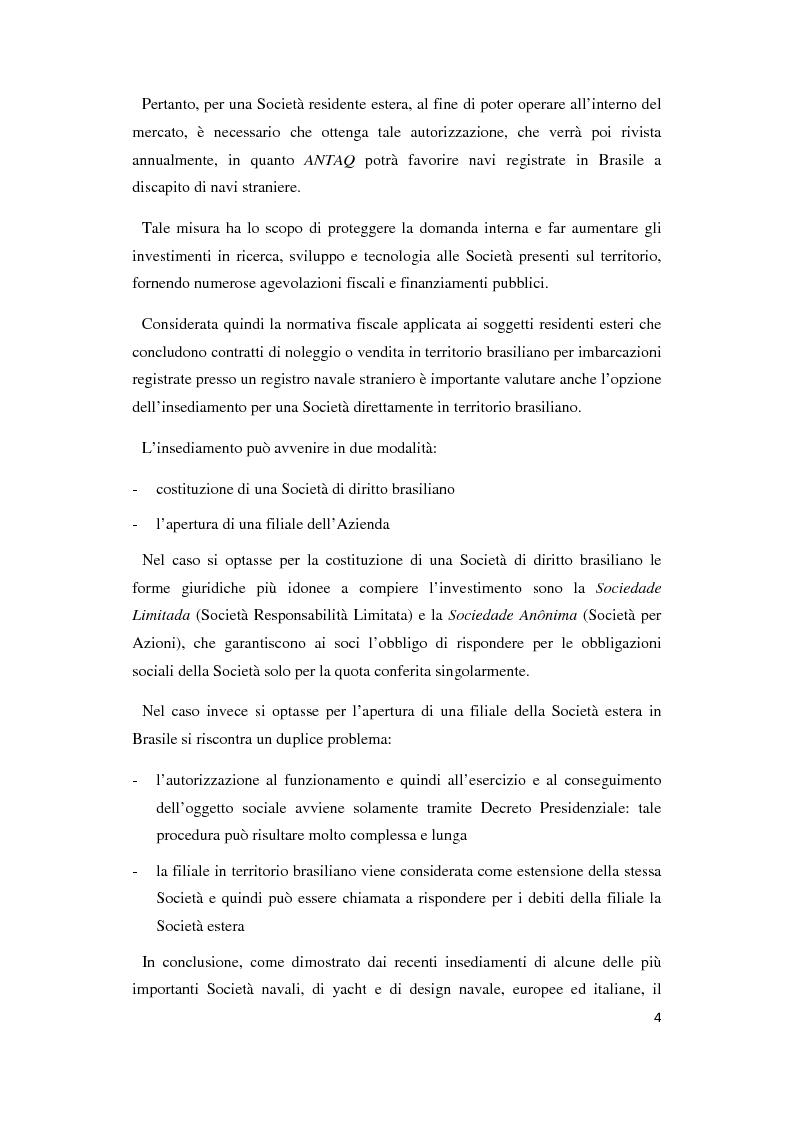 Anteprima della tesi: Problematiche legali e fiscali per l'importazione di nuova costruzione navale in Brasile, Pagina 4