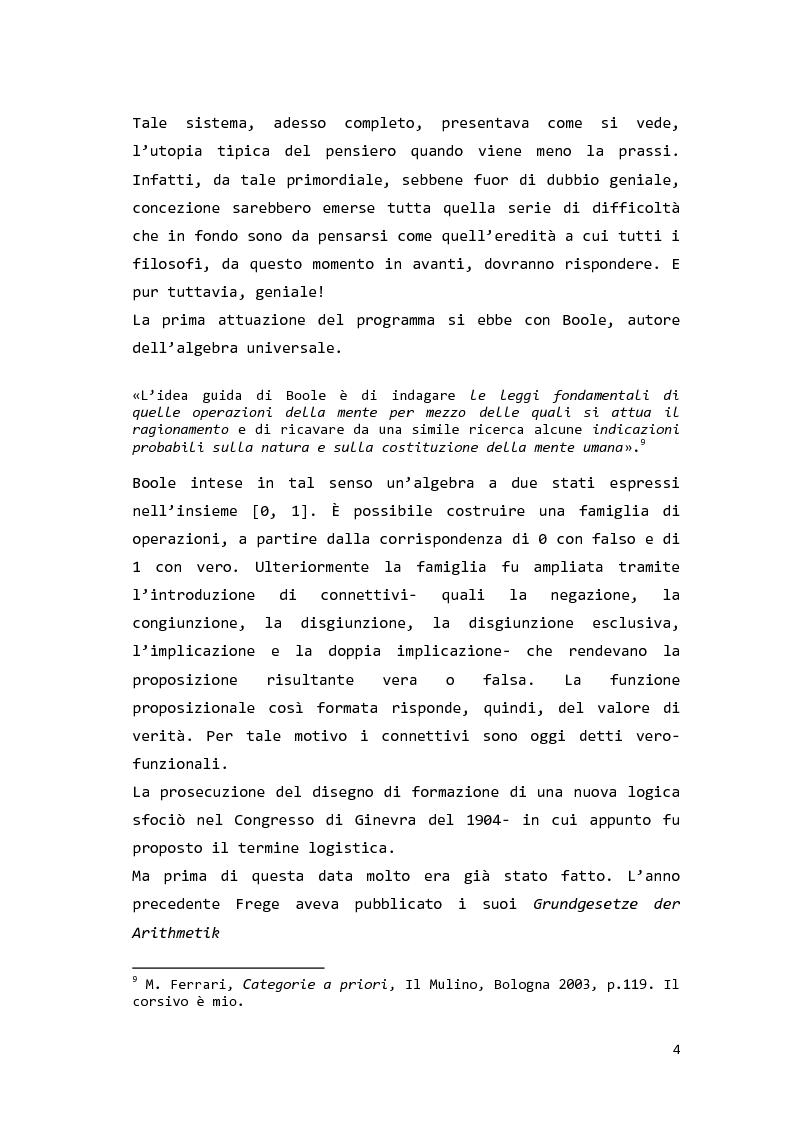 Anteprima della tesi: Saul Kripke: analisi modale del significato, Pagina 5