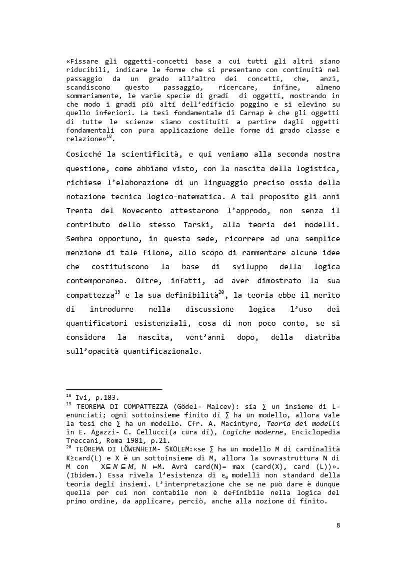 Anteprima della tesi: Saul Kripke: analisi modale del significato, Pagina 9