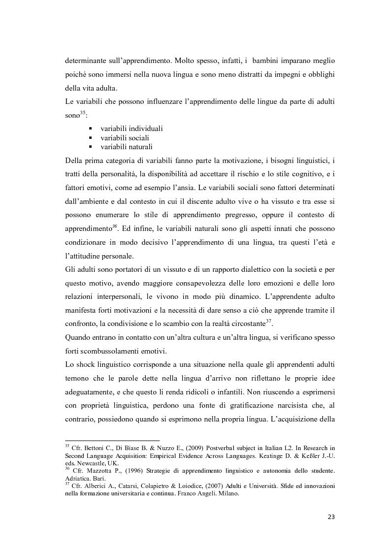 Anteprima della tesi: Il ruolo delle emozioni nell'acquisizione di una seconda lingua: l'abbandono della lingua madre come fuga dal passato nell'opera di Helga Schneider, Pagina 11