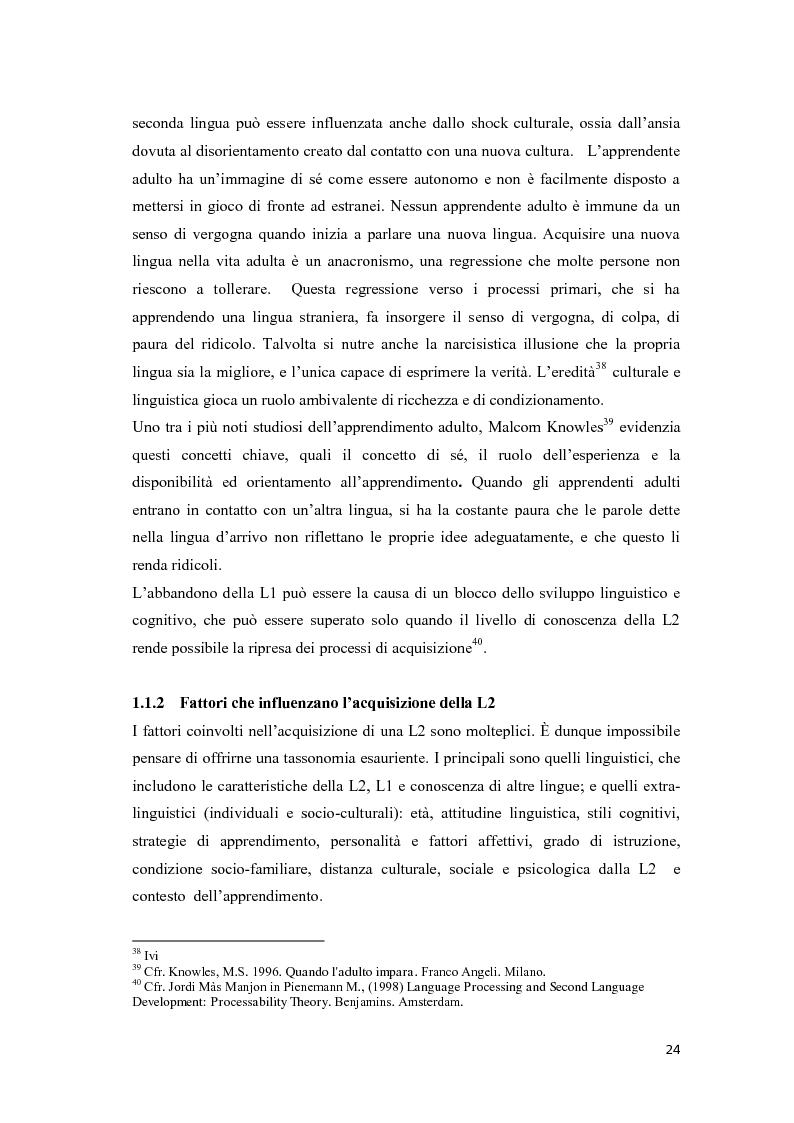 Anteprima della tesi: Il ruolo delle emozioni nell'acquisizione di una seconda lingua: l'abbandono della lingua madre come fuga dal passato nell'opera di Helga Schneider, Pagina 12