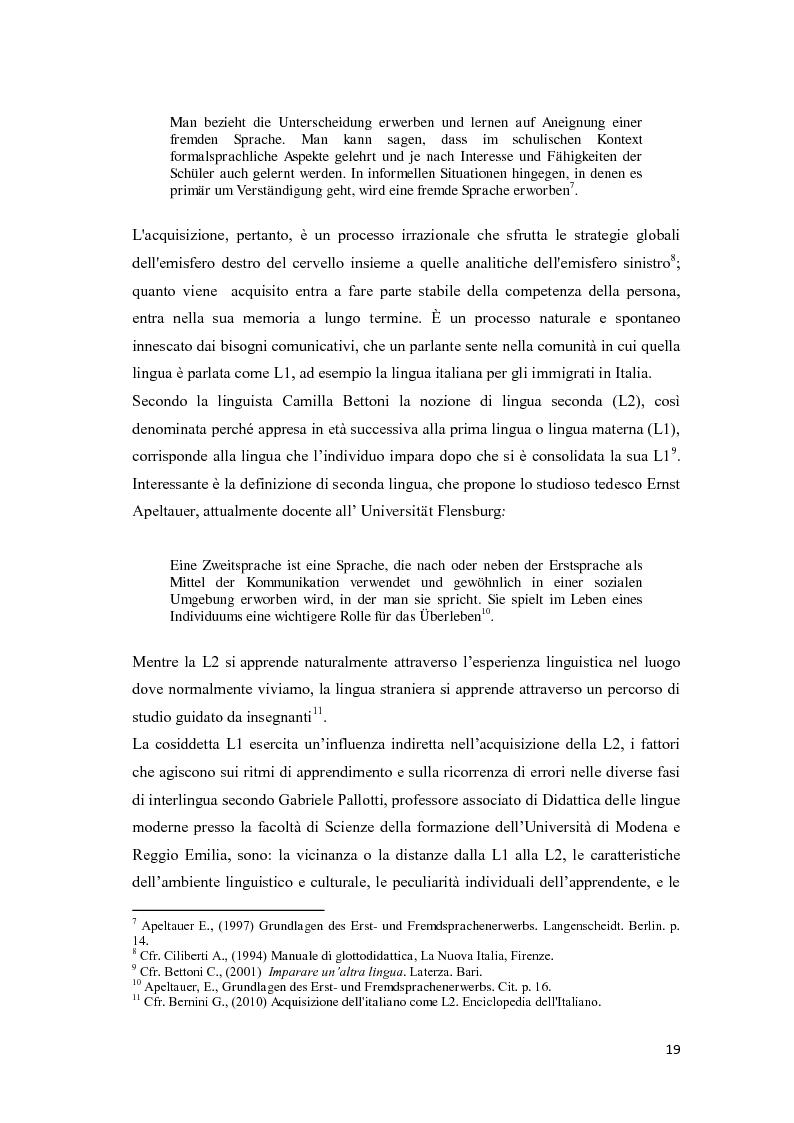 Anteprima della tesi: Il ruolo delle emozioni nell'acquisizione di una seconda lingua: l'abbandono della lingua madre come fuga dal passato nell'opera di Helga Schneider, Pagina 7