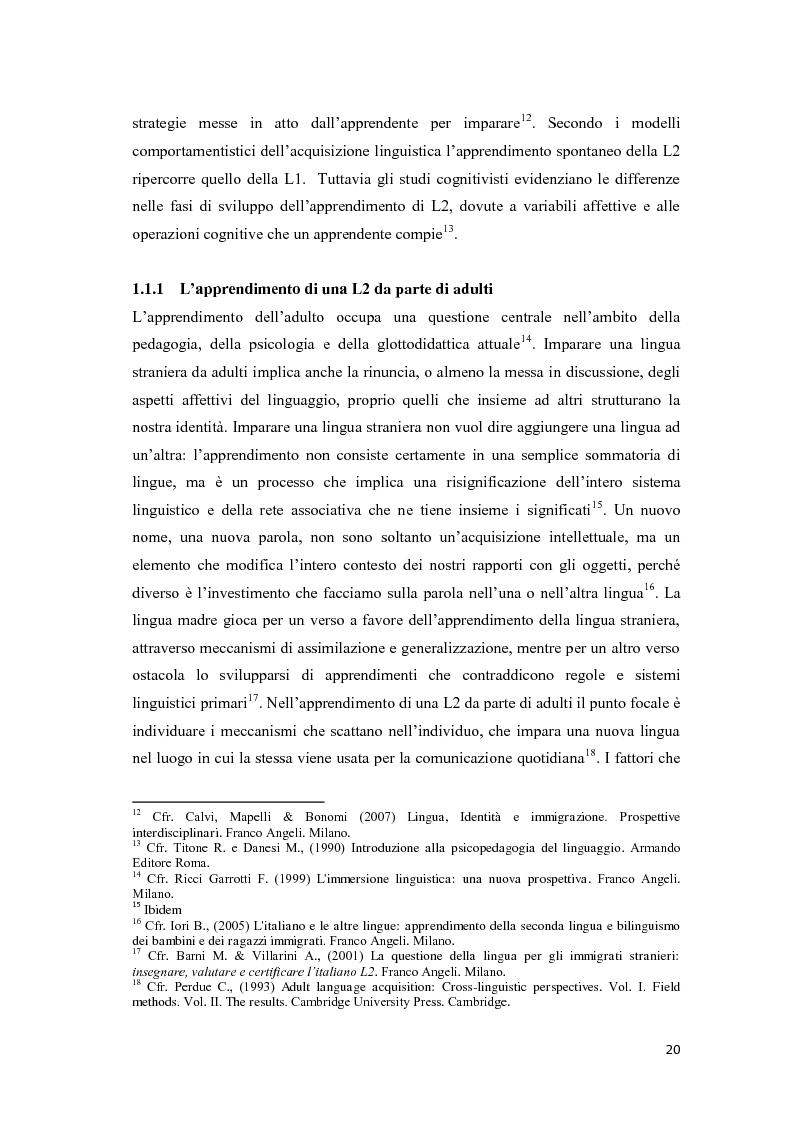 Anteprima della tesi: Il ruolo delle emozioni nell'acquisizione di una seconda lingua: l'abbandono della lingua madre come fuga dal passato nell'opera di Helga Schneider, Pagina 8