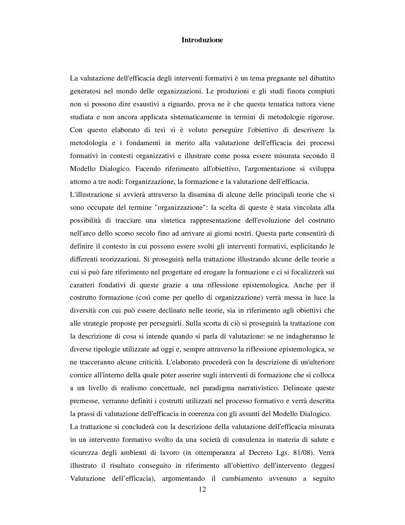 Anteprima della tesi: La valutazione dell'efficacia degli interventi formativi secondo il modello dialogico , Pagina 2