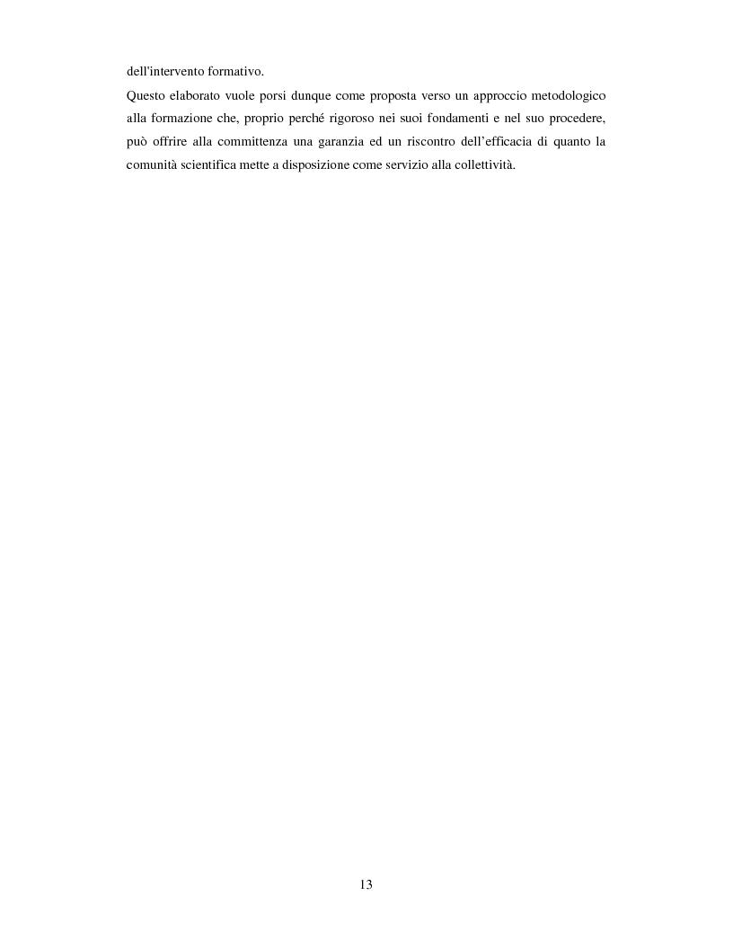 Anteprima della tesi: La valutazione dell'efficacia degli interventi formativi secondo il modello dialogico , Pagina 3