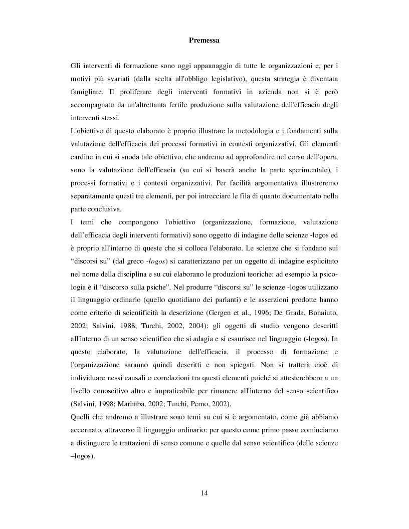 Anteprima della tesi: La valutazione dell'efficacia degli interventi formativi secondo il modello dialogico , Pagina 4