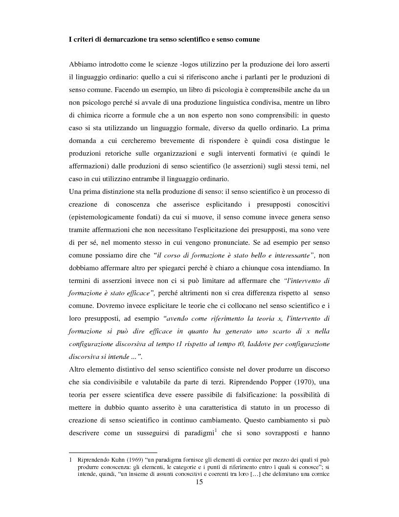 Anteprima della tesi: La valutazione dell'efficacia degli interventi formativi secondo il modello dialogico , Pagina 5
