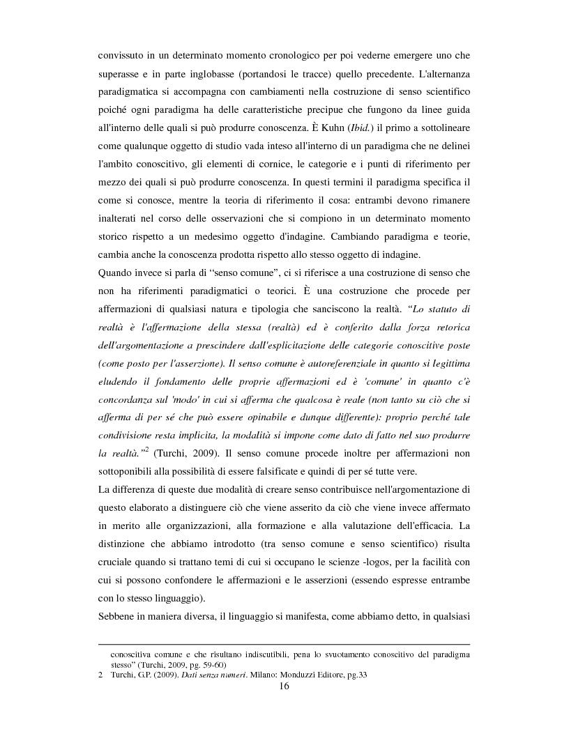 Anteprima della tesi: La valutazione dell'efficacia degli interventi formativi secondo il modello dialogico , Pagina 6