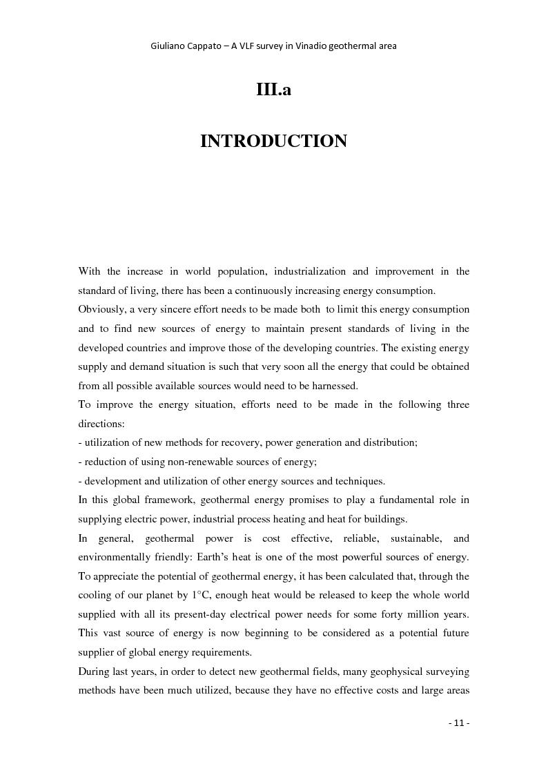 Anteprima della tesi: A VLF Survey in Vinadio Geothermal Area, Pagina 2