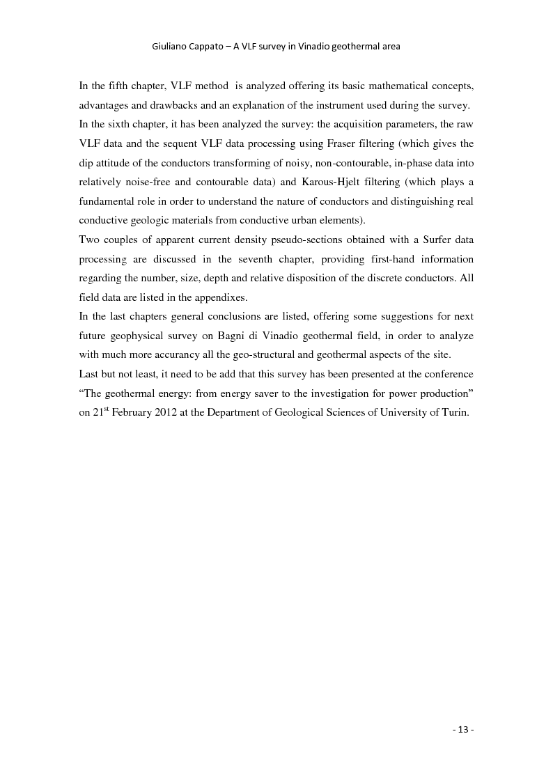 Anteprima della tesi: A VLF Survey in Vinadio Geothermal Area, Pagina 4